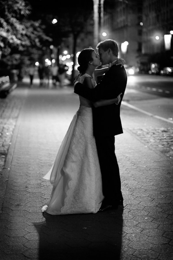 wedding nyc black and white