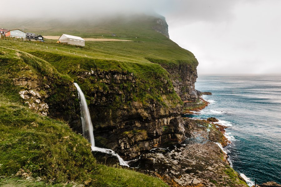 Faroe Islands Kalsoy And Kunoy Islands For Instants